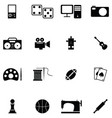 hobby icon set vector image
