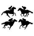 Horse Racing Silhouette vector image vector image