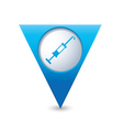 hospital icon pointer blue vector image vector image