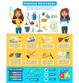 Household chores infographic design template