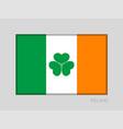 ireland flag with shamrock national ensign aspect vector image