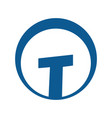 letter t logo design vector image vector image