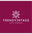 Letter T Monogram pattern trendy vintage logos vector image vector image