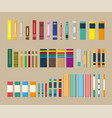 library set of different books vector image
