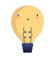 light bulb power idea cartoon character icon on vector image