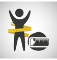 lose weight concept tape measure icon vector image vector image