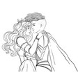 love wins romantic lesbian couple female knight vector image