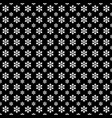 monochrome seamless stylized snowflake pattern vector image vector image