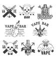 monochrome set of vape bar stickers vector image