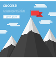 mountains with flag vector image vector image