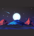 neon nights mountain landscape with vector image