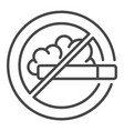 no smoke icon outline style vector image