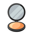open powder compact or make up of vector image vector image