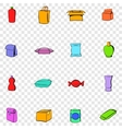 Package set icons vector image vector image