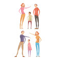 parents abuse child compositions vector image
