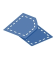 Pattern sewing isometric 3d icon vector image
