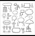 people communication elements icons set vector image