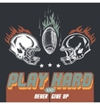 Play hard american football vector image vector image