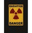 Radiation sign grunge background vector image vector image