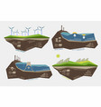 renewable energy sources of earth water and wind vector image