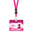 rose id lanyard vector image vector image