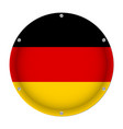 round metallic flag of germany with screws vector image