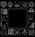 science technology engineering and math square vector image vector image