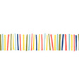 seamless border doodle stripes pattern vector image vector image