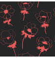 Seamless pattern with anemon flowers vector image vector image