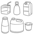 set of milk product vector image