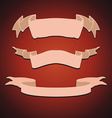 Set of Vintage Ribbons vector image vector image
