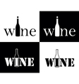 set symbol of wine vector image vector image