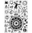 shamans ritual doodles vector image vector image
