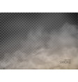 smoke with fog flame isolated on transparent vector image