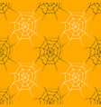 spider web seamless pattern hand drawn sketched vector image vector image