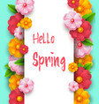 spring sale banner template with paper vivid vector image vector image