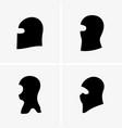 terrorist mask vector image vector image
