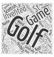 The History of Golf Word Cloud Concept vector image vector image