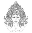 tribal fusion boho diva beautiful asian divine vector image vector image