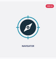 two color navigator icon from user interface vector image