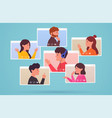 video conferencing and web communication group vector image
