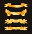 golden ribbon decoration elements ribbons vector image