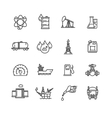Oil Industry Outline Icon Set vector image