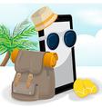 Smartphone Mobile Travel Adventurer Backpack vector image