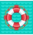 Lifebuoy cartoon style color icon vector image