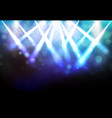 magic spotlights with blue rays and glowing vector image