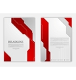 Abstract red grey geometric tech flyer design vector image vector image