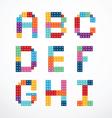 Alphabet blocks style set vector image vector image
