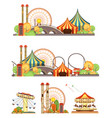 amusement park circus set vector image