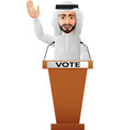 arabian businessman speaker on presentation podium vector image vector image